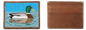 Mallard Needlepoint Card Wallet