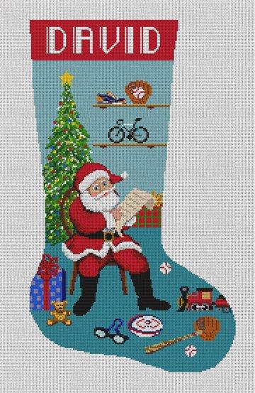 A Note To Santa Needlepoint Stocking Canvas