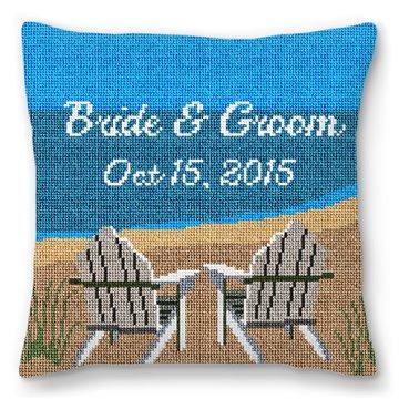 Adirondack Ring Bearer Needlepoint Pillow