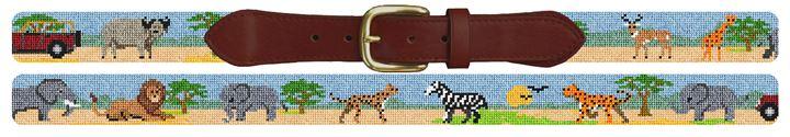 African Safari Needlepoint Belt