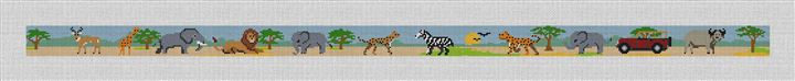 African Safari Needlepoint Belt Canvas
