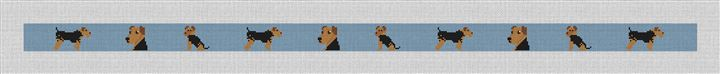 Airedale Terrier Needlepoint Belt Canvas