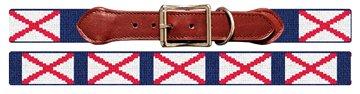 Alabama Flag Needlepoint Dog Collar