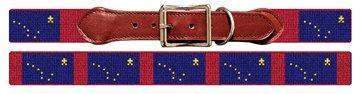 Alaska Flag Needlepoint Dog Collar