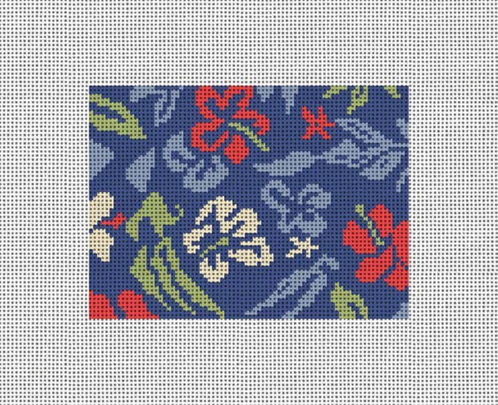 Aloha Hibiscus Needlepoint Card Wallet Canvas