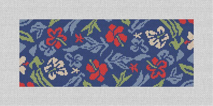 Aloha Hibiscus Needlepoint Wallet Canvas