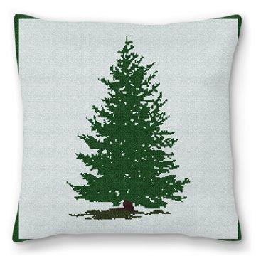 Always Evergreen Needlepoint Pillow
