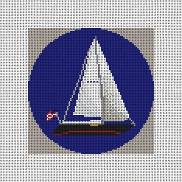 American Sailing Needlepoint Ornament Canvas