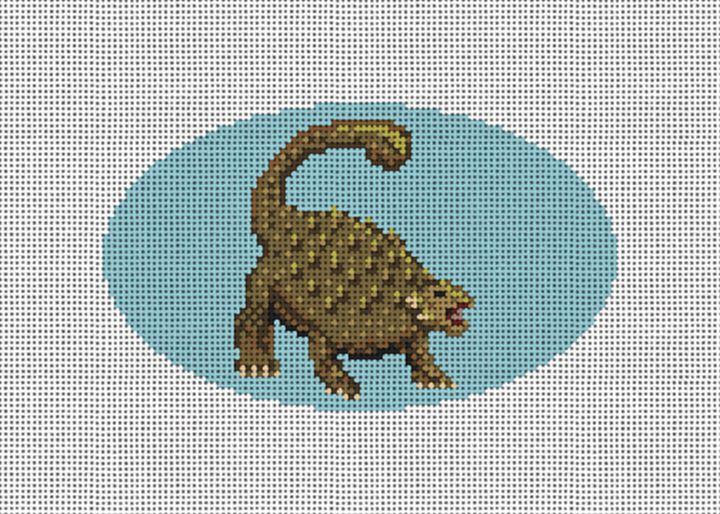 Ankylosaurus Needlepoint Ornament Canvas