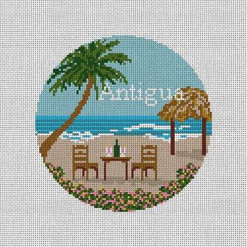 Antigua Paradise Needlepoint Ornament Canvas