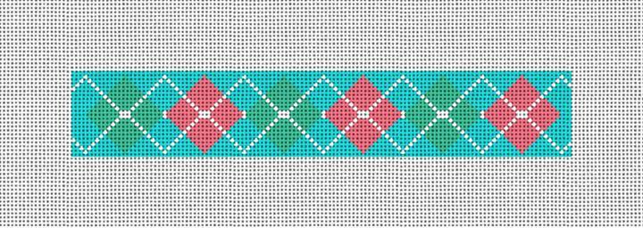 Argyle Needlepoint Key Fob Canvas