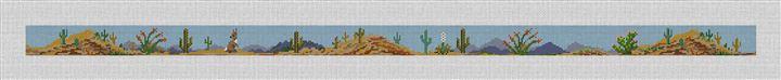 Arizona Desert Landscape Needlepoint Belt Canvas