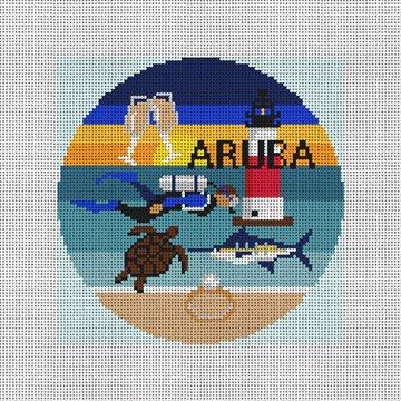 Aruba Needlepoint Ornament Canvas