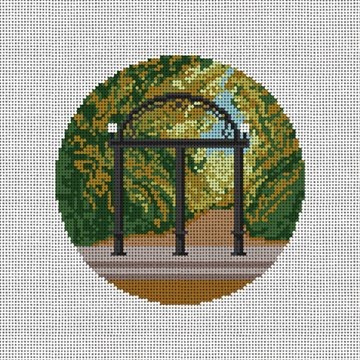 Athens Georgia Arch Needlepoint Ornament Canvas