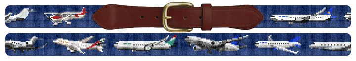 Aviation Needlepoint Belt