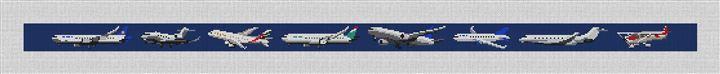 Aviation Needlepoint Belt Canvas