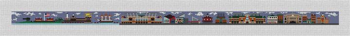 Baltimore Landscape Needlepoint Belt Canvas