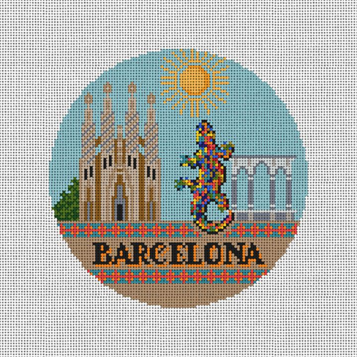 Barcelona Needlepoint Ornament Canvas