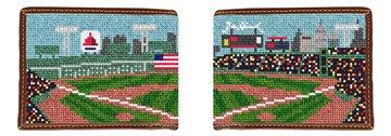 Baseball Field Needlepoint Wallet