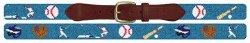 Baseball Needlepoint Belt