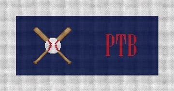 Baseball Needlepoint Flask Canvas
