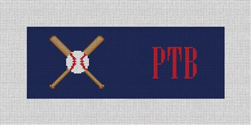 Baseball Needlepoint Wallet Canvas