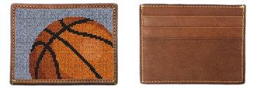 Basketball Needlepoint Card Wallet