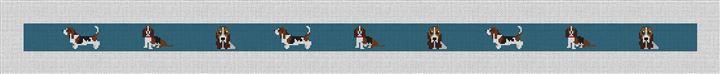 Basset Hound Needlepoint Belt Canvas