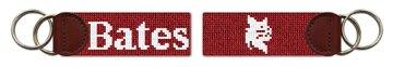 Bates College Bobcats Needlepoint Key Fob