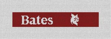 Bates College Bobcats Needlepoint Key Fob Canvas