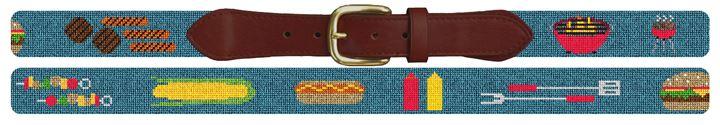 BBQ Needlepoint Belt