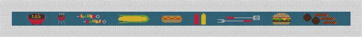 BBQ Needlepoint Belt Canvas