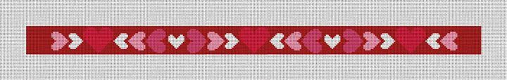 Be My Valentine Needlepoint Dog Collar Canvas