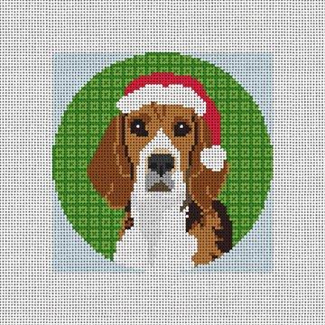 Beagle Needlepoint Ornament Canvas
