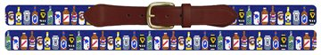 Beer Collection Needlepoint Belt