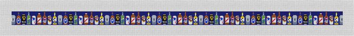 Beer Collection Needlepoint Belt Canvas
