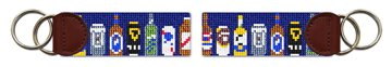 Beer Collection Needlepoint Key Fob