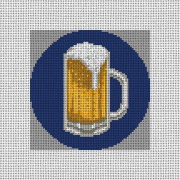 Beer Mug Needlepoint Ornament Canvas