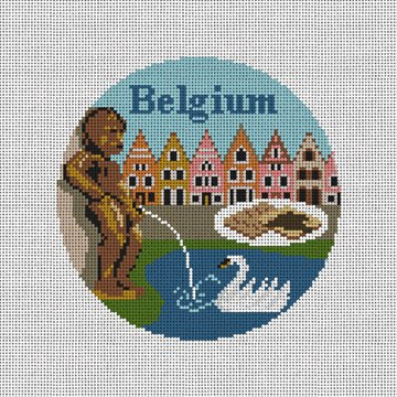 Belgium Needlepoint Ornament Canvas