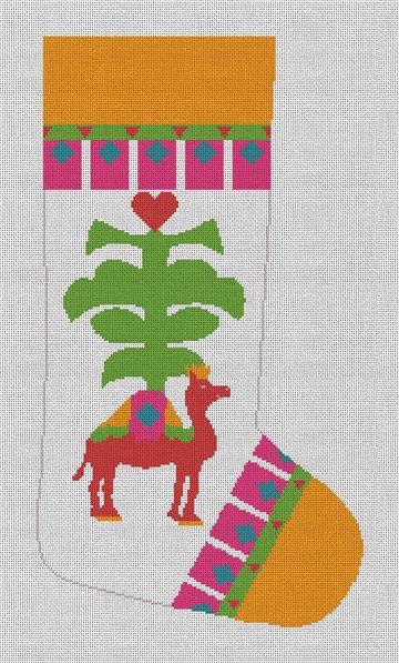 Belle Noel Oasis Christmas Stocking Canvas