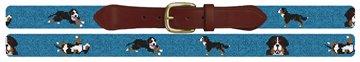 Bernese Mountain Dog Needlepoint Belt