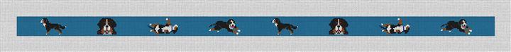 Bernese Mountain Dog Needlepoint Belt Canvas