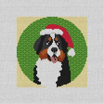 Bernese Mountain Dog Needlepoint Ornament Canvas