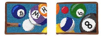 Billiards Needlepoint Wallet