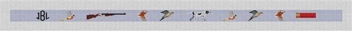 Bird Hunting Needlepoint Belt Canvas