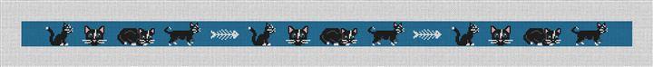 Black Cat Needlepoint Belt Canvas