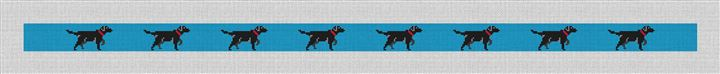Black Labrador Retriever Needlepoint Belt Canvas