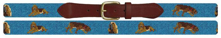 Bloodhound Needlepoint Belt