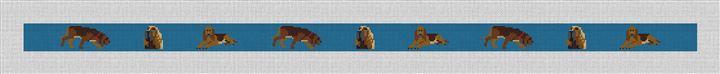 Bloodhound Needlepoint Belt Canvas