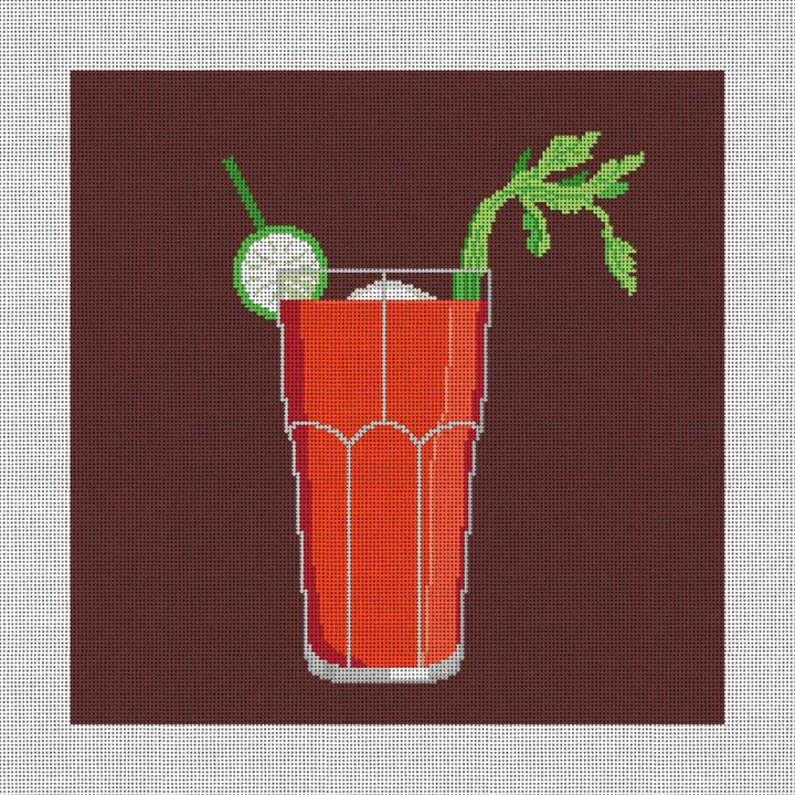 Bloody Mary Needlepoint Pillow Canvas